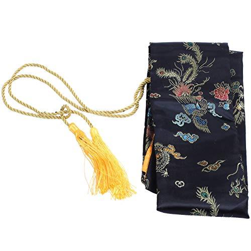 Andifany 135Cm Dragon y Phoenix Katana Samurai Sword Bag Tissu Negro
