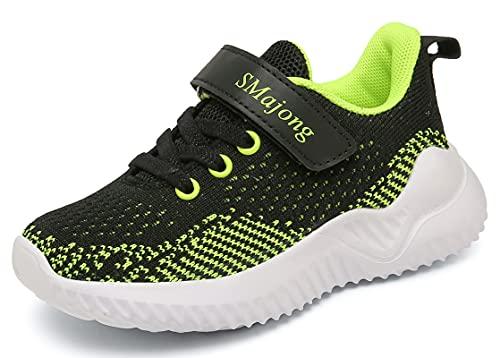 SMajong Zapatillas de Correr Unisex Niños Zapatillas Deportivas para Niños Niñas Zapatillas de Running Ligeras para Niños...