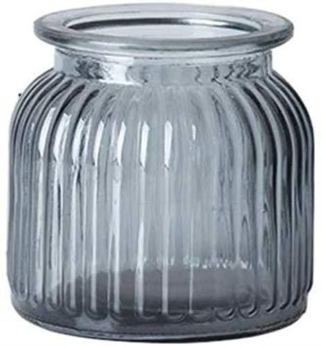 Transparante glazen vaas, droge bloemen valse bloem Bloemstuk Vaas met grote diameter Desktop Vase Decor Vazen (Color : Gray, Size : 11 * 11 * 11CM)