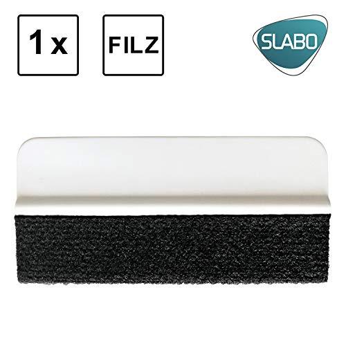 Slabo Rakel mit Filzkante Squeegee zum Verkleben Rakel für Folien | Matte Folien | empfindliche Folien | Wandtattoo | Autofolien – 1er Set