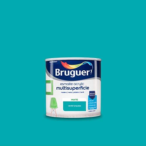 Bruguer Acrylic Multisuperficie Esmalte al agua Mate Verde Turquesa 250 ml