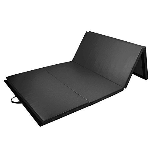 PRISP Tapis de Sol 240cm pour Gymnastique et Fitness, Matelas de Gym Épais et Pliable pour la Maison; Longueur: 240 cm * Largeur: 120 cm * Épaisseur: 5 cm