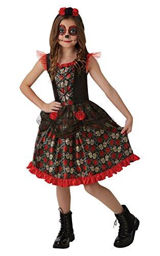 Rubie's 2640059XL Red Rose Day of the Dead, kostuum voor kinderen, 9-10Y