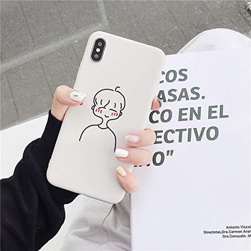 Xyamzhnn Caja del teléfono de TPU Funda Protectora for el iPhone 6 (Modelo de Dibujos Animados A) st Plus y Plus 6s (Color : Cartoon Model C)