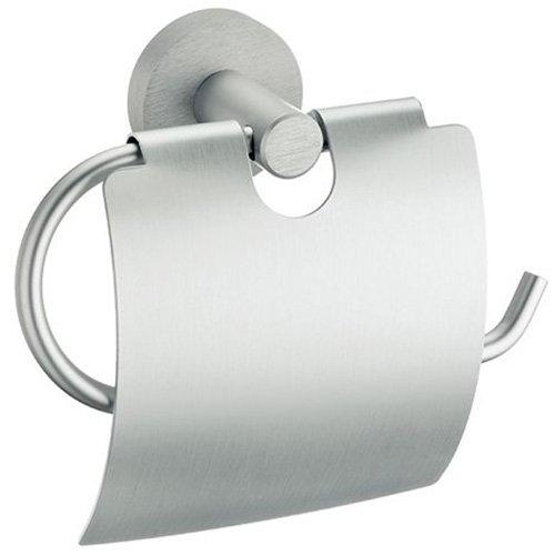 kela WC-Papierhalter Abramo aus Aluminium in Silber, 17 x 15 x 5 cm