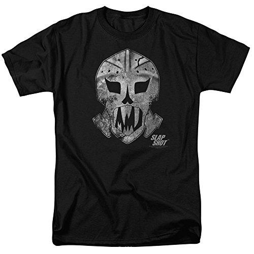 Slap Shot Hockey Comedy Sport Film Goalie Maske Erwachsene T-Shirt Tee - Schwarz - XXX-Large