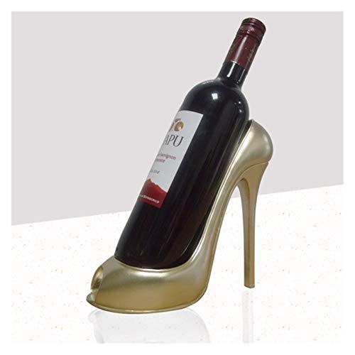 LTGABA Absatz-Schuh-Weinflaschenhalter Stilvolle Werbegeschenkkorb Zubehör for den Heim (Color : Champagne)