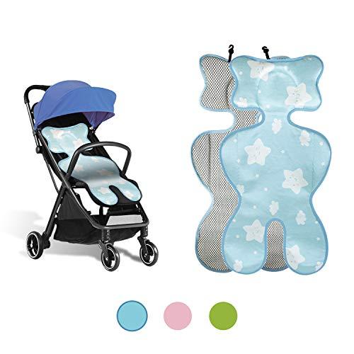 Sitzauflage sommer babyschale, kinderwagen einlage sommer, Sitzeinlage babyschale, Atmungsaktive universal sitzauflage, für babyschale autokindersitz schützt vor flecken (ice silk blue)