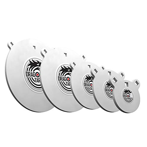 Dragon Targets AR500 Steel Targets for Shooting (3/8 Inch Bundle) Thick Laser Cut Sizes Painted AR500 Gong Targets for Shooting, Steel Targets Made in USA