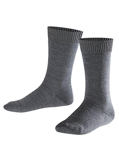 Falke Comfort Wool Calcetines, Niños, Gris Oscuro 3070, Talla única (23-26)