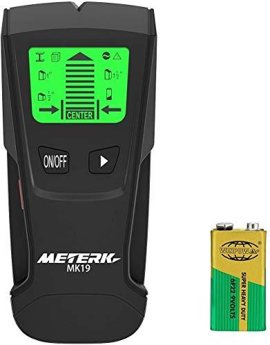 Ortungsgerät Meterk, Multifunktioneller Wand-Scanner Detektor mit LCD-Anzeige und Alarmgerät, Digitaler Stud Finder für Metall, Holz, Wechselstromkabel in der Wand (Lieferung mit passender Batterie)