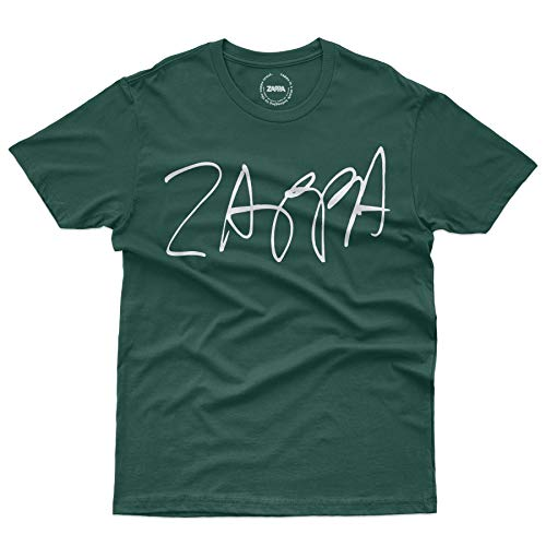 Zappa Signature - Frank Zappa T-Shirt Official Licensed Uomo, Medium, Verde