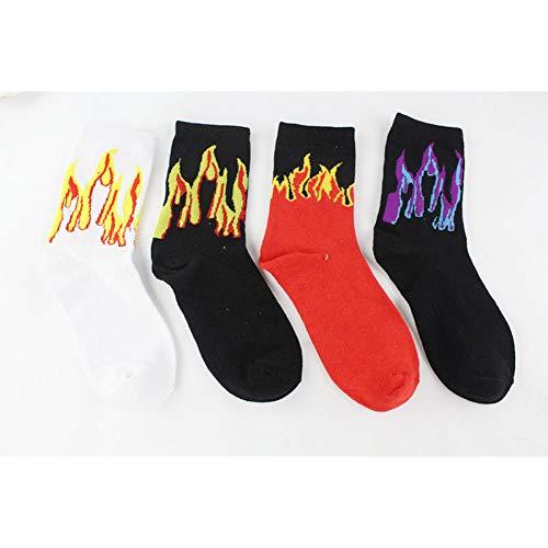 VYNTM Socken Herbst und Winter Flamme Straße Schlauch-Socken Baumwolle Paar Sport-beiläufige Socken
