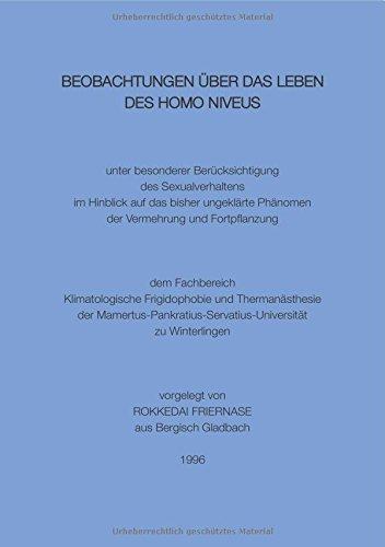 Beobachtungen über das Leben des Homo niveus: unter besonderer Berücksichtigung des Sexualverhaltens