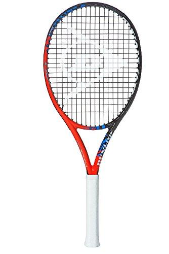 Dunlop Force 100 - Raqueta de Tenis (Talla 4), Color Negro, Rojo y Azul