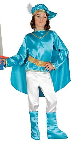 Costume principe azzurro principino delle favole 7-9 anni