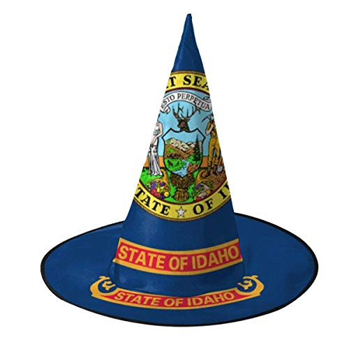 rouxf Bandera de Idaho Sombrero de Bruja Disfraz de Halloween Cosplay Accesorio de Bruja Malvada para nios y Adultos