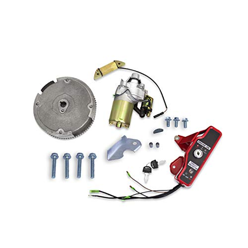 Everest Parts Supplies Compatible with Honda GX160 GX200 5.5HP 6.5HP Electric Start Kit Starter Motor with Solenoid Ignition Switch Box W/Keys