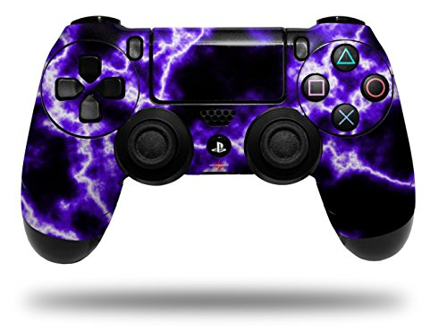 WraptorSkinz Skin compatible with Sony PS4 Dualshock Controller PlayStation 4 Original Slim and Pro Electrify Purple (CONTROLLER NOT INCLUDED)