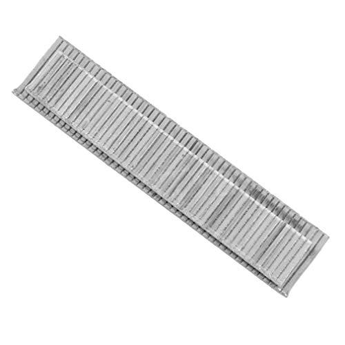 Bellaluee 1000 Uds F10 Grapas 10mm de Longitud Clavos a Prueba de Herrumbre para enmarcar Clavos eléctricos Grapadora Accesorios Herramienta de Carpintero