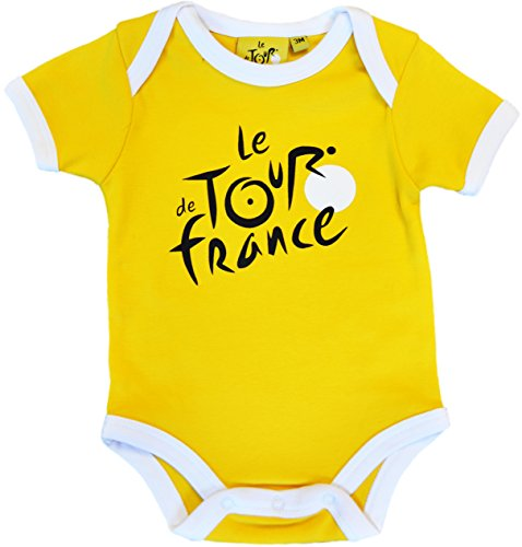 Body bebé Le Tour de France de ciclismo – Collection officielle – Talla bebé niño, color amarillo, tamaño 12 meses