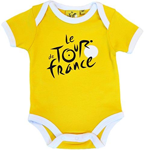 Body bebé Le Tour de France de ciclismo–Collection officielle–Talla bebé niño, color amarillo, tamaño 12 meses