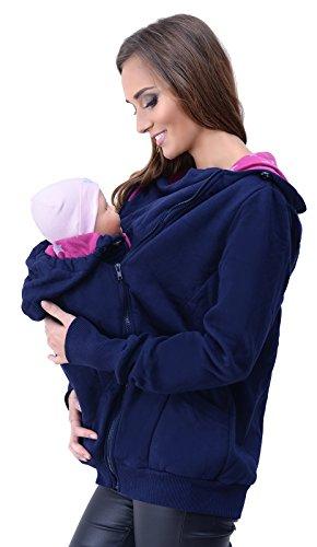 Mija - 3in1 Tragejacke, Umstandsjacke Tragepullover für Tragetuch für Babytrage 4046 (EU40 / L, Dunkelblau)