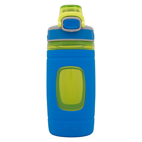 bubba Flo Kids Water Bottle with Silicone Sleeve, 16 oz., Azure