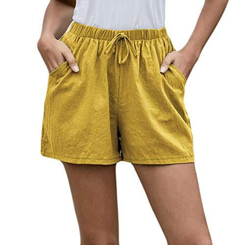 Pantalones cortos EMP-Wang Mujer Mujer Cordón Casual Suelto Harajuku Playa Verano para Mujer Feminino Pantalon Corto Mujer