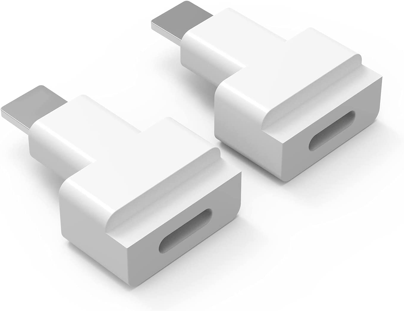 Male to Female Docking Extender Adapter Connector. 2PCS Female to Male i OS Phone Extension Dock Converter Transfer Audio Video Music Picture and Power Charger. ( White )
