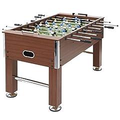 Festnight baby-foot table de jeu MDF et en acier baby-foot baby-foot 140 x 74,5 x 87,5 cm Brun