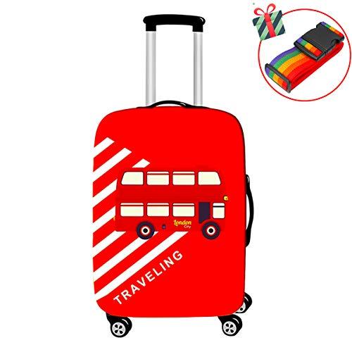 Elastische reiskoffer Hoes Bagage Bescherming, Chickwin Bus Patroon Print Elastische Oxford Stretch Stof Stofdicht Opvouwbare Herbruikbare Mooie Trolley Bagage Case Cover
