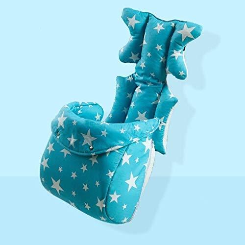 ZTH Mode Bébé Poussette Coussin bébé Poussette siège Diaper Pad Mat Accessoires Poussette (Bleu) (Color : Blue with Foot Cover)