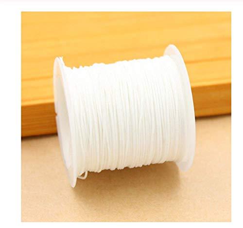 HYTGF Cuerda Gruesa Resistente Cuerda Satén Rattail Poliéster Cordones/Cuerda Nudo Cordón Paquete de Bricolaje Pulsera Joyas Resultados Longitud 250cm Diámetro 0.1cm 2PCS R