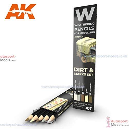 AKI Weathering Pencil Set - Dirt Marks