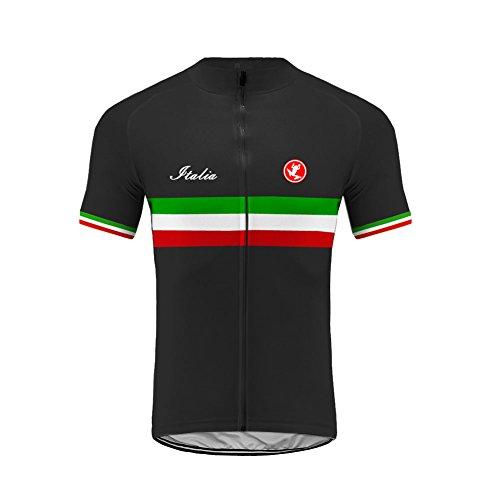 UGLY FROG Herren Outdoor Italienische Flagge Design Sport MTB Fahrradbekleidung Fahrradtrikot Radsport Kurzarmtrikot Radfahren Trikot