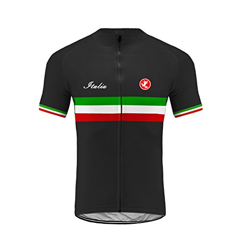 Uglyfrog Herren Outdoor Italienische Flagge Design Sport MTB Fahrradbekleidung Fahrradtrikot Radsport Kurzarmtrikot Radfahren Trikot