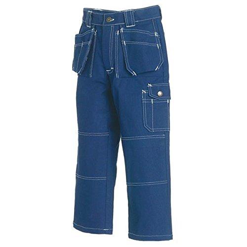 Werkbroek kinderen marineblauw C, C128, marineblauw