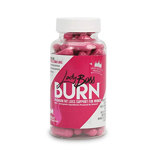 Premium Fat Burning Pills Powered by Science - LadyBoss Burn - Safe - Craving Fighter and Metabolism Support for Women - Ultra Premium & Effective - 30 Servings