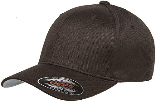 Flexfit Herren Athletic Baseball Fitted Cap, Braun, S/M
