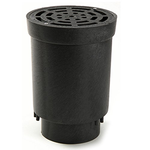 NDS FWSD69 Round Surface Drain Inlet with Black Plastic Grate For Flo Stormwater Dry Well System, 6