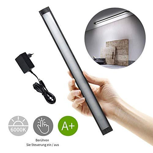 30cm Unterbauleuchte Küche,LED Leiste Dimmbar,10 LED Schrankbeleuchtung,LED Lichtleiste 4.1W, Nachtlicht mit Bewegungsmelder, Weiß 6000K