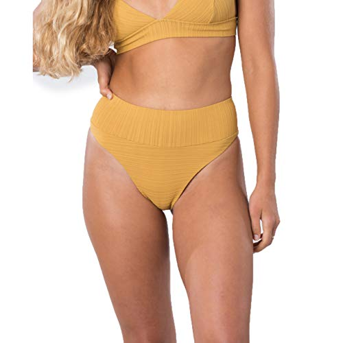 Rip Curl Damen Bikini Premium SURF HI WST CHKY, Größe:S, Farben:Mustard