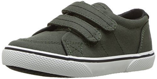 Sperry Halyard Hook & Loop Boat Shoe (Toddler/Little Kid),Navy Saltwash Canvas,11 M US Little Kid