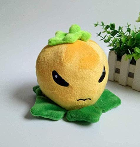 NC518 Peluche de Juguete Suave de melocotón Amarillo de 15 cm, Colgante con Ventosa, muñeco de Peluche, Regalo para niños, muñeca de Anime