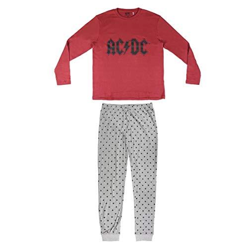 ARTESANIA CERDA Herren Pijama Largo Ac/Dc Zweiteiliger Schlafanzug, Rot (C18), XL