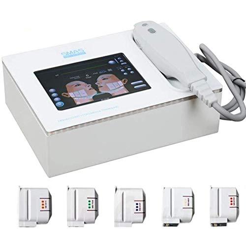 LILAODA Beauty Instrument Hochintensive fokussierte Ultraschall Cellulite Reduction Schlankheitsmaschine 5 Hifu-Patronen Face Beauty Machine zur Faltenentfernung Haut Straffen Perfect