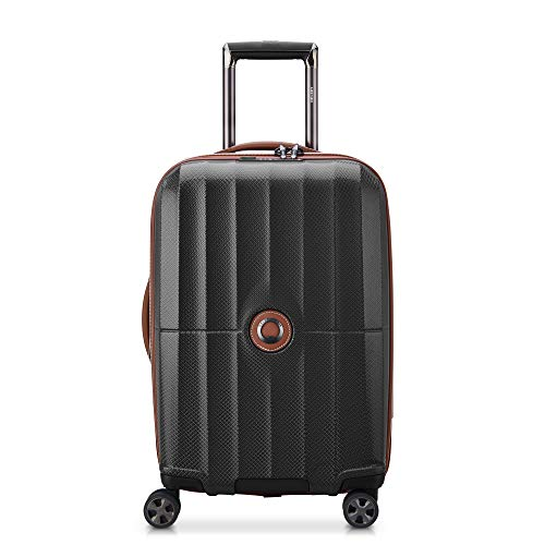 DELSEY Paris St. Tropez Hardside Expandable Luggage with Spinner Wheels, Black, Carry-on 21 Inch