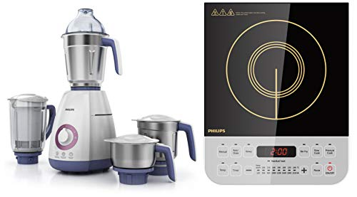 Philips Viva Collection HL7701/00 750-Watt Mixer Grinder + Philips Viva Collection HD4928/01...