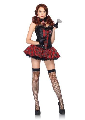Leg Avenue 85091 - Academy Süße Kostüm, Größe L, rot